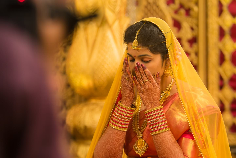 bride at pooja