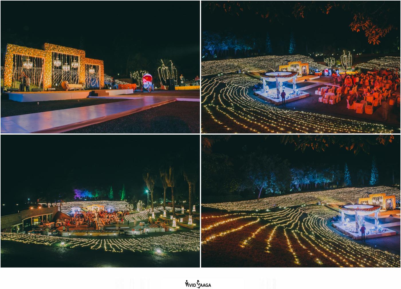 reception decoration at Golconda resort