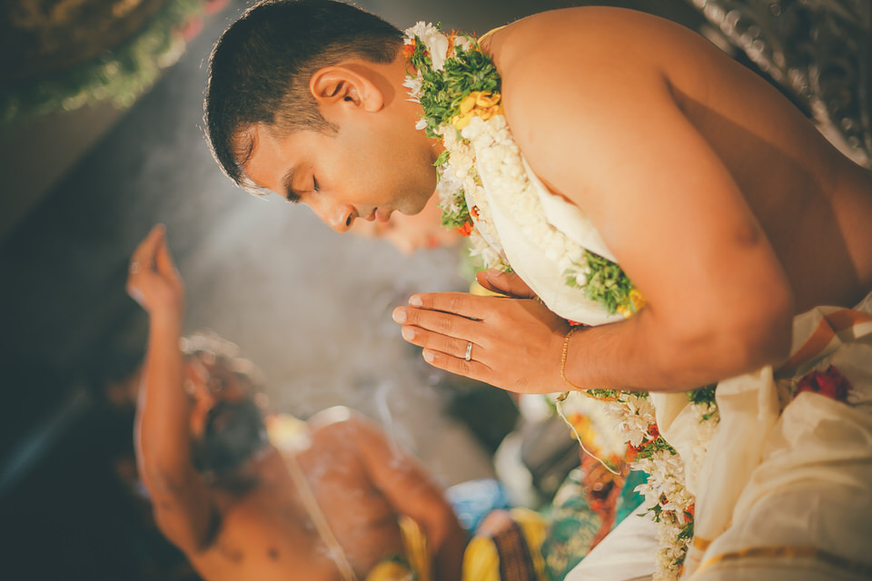 Groom pooja at a South Indian Wedding