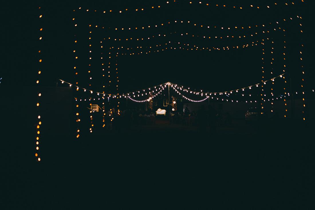 wedding decor at a christian wedding