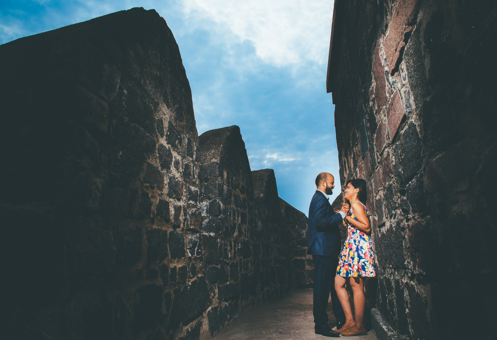 candid moments between bride and groom in couple session