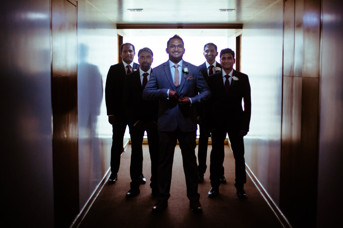 Wedding Photographer Hyderabad capturing groom and groomsmen