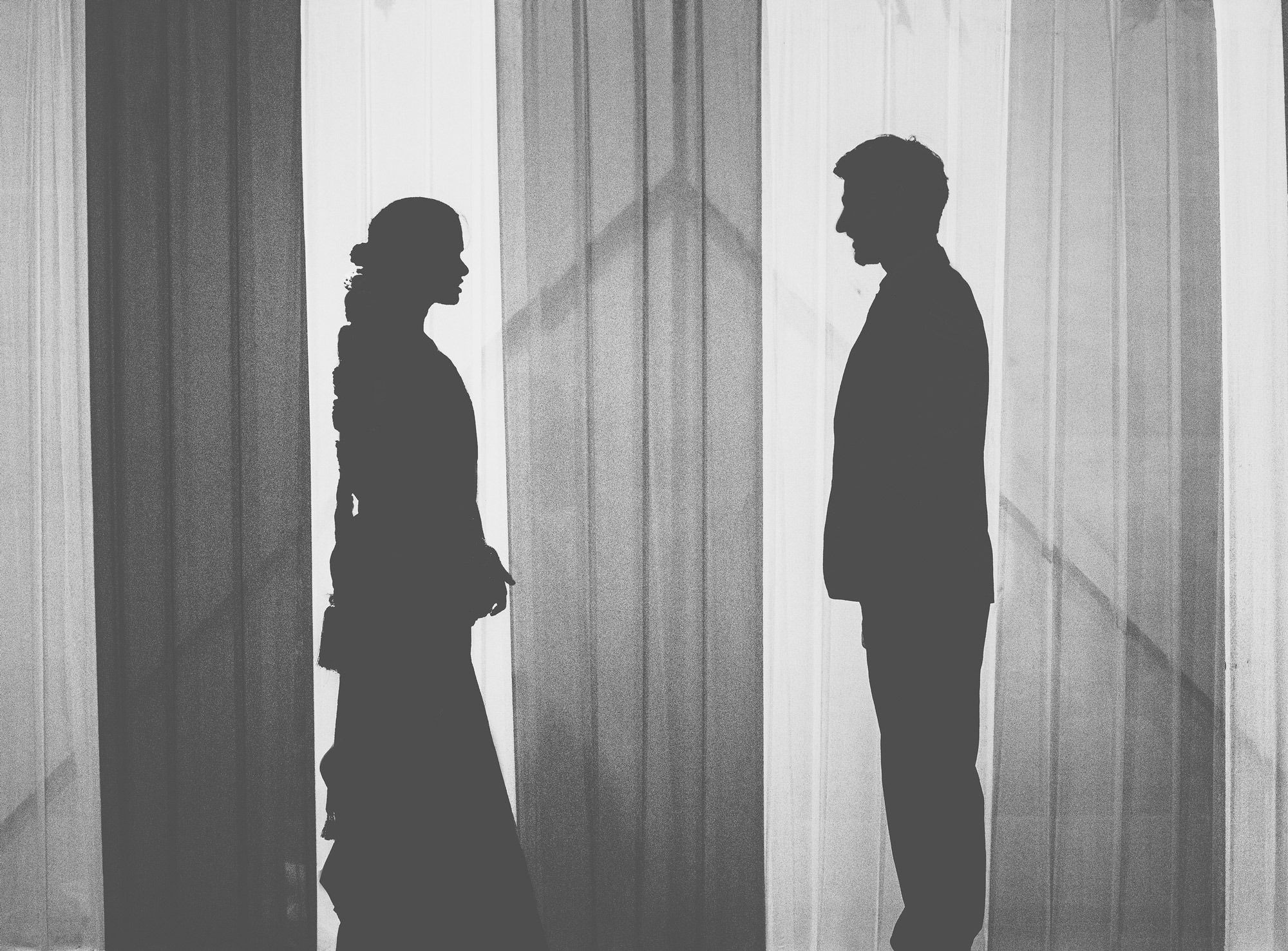south indian wedding couple silhouette