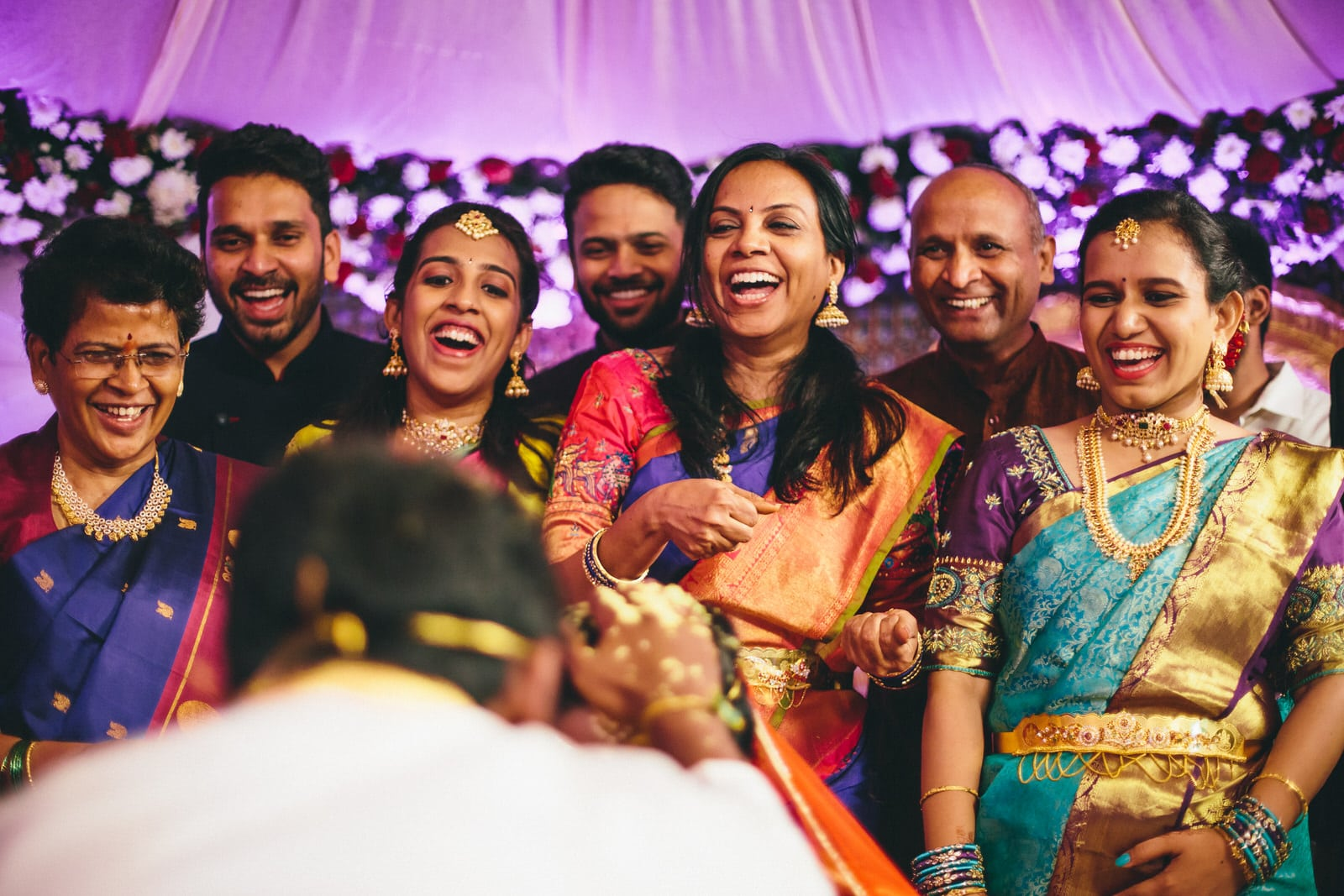 telugu family enjoying the wedding